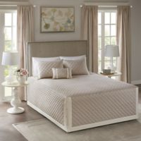 Madison Park Breanna Full/Queen Bedspread Set in Khaki