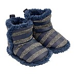 On the Goldbug™ Size 0-6M Knit Slipper in Blue