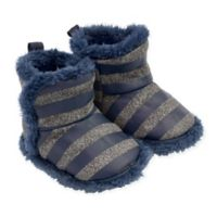 On the Goldbug™ Size 6-12M Knit Slipper in Blue