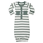 L'ovedbaby® Size 0-3M Striped Organic Cotton Gown in Seafoam