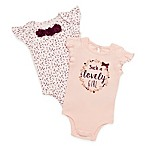"Baby Starters® Size 9M 2-Pack ""Such a Lovely Girl"" Bodysuits in Peach"