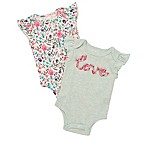 "Baby Starters® Size 3M 2-Pack ""Love"" Bodysuits in Mint"