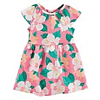 carter's® Size 3M 2-Piece Hibiscus Print Knit Dress and Diaper Cover Set