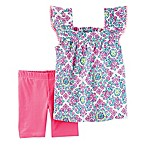 carter's® Size 12M 2-Piece Medalion Tank Top and Bike Short Set