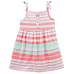 carter's® Size 12M 2-Piece Striped Dress and Diaper Cover Set
