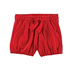 OshKosh B'gosh® Size 3-6M Tie-Front Bubble Shorts in Red