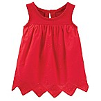 OshKosh B'gosh® Size 0-3M Sleeveless Floral Top in Red