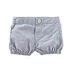 OshKosh B'gosh® Size 3-6M Striped Ruffle Bubble Shorts in Blue/White