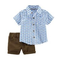 carter's® Size 18M 2-Piece Whale Shirt and Short Set in Blue
