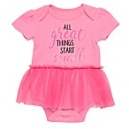 Baby Starters® Size 3M Tutu Short Sleeve Bodysuit in Pink
