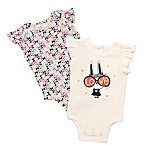 Baby Starters® Newborn 2-Pack Love Bunny Short Sleeve Bodysuits in White