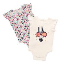 Baby Starters® Size 3M 2-Pack Love Bunny Short Sleeve Bodysuits in White