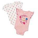 "Baby Starters® Size 6M 2-Pack ""Be Kind"" Short Sleeve Bodysuits in Pink"