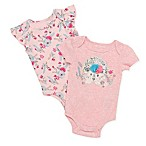 Baby Starters® Size 3M 2-Pack Hedgehog Bodysuits in Pink