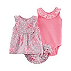 carter's® Size 9M 3-Piece Bodysuit, Top and Diaper Cover Set in Pink