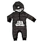 Baby Starters® Size 6M Hooded Stripe Coverall in Black