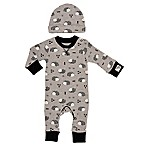 Baby Starters® Newborn 2-Piece Coverall and Hat Set in Grey