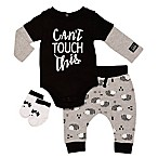Baby Starters® Size 6M 3-Piece Can't Touch This Bodysuit, Pant, and Sock Set