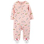 carter's® Size 6M Unicorn Sleep and Play Zip-Up Footie in Pink