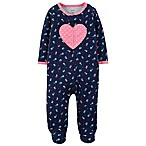 carter's® Size 3M Heart Footed Coverall in Navy