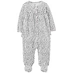 carter's® Newborn Hearts Footed Coverall in Black/White