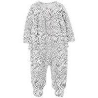 carter's® Size 3M Hearts Footed Coverall in Black/White