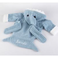 "Baby Aspen Size Newborn-9M ""Let the Fin Begin"" Shark Hooded Spa Robe in Blue"