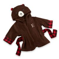 Baby Aspen Size Newborn-9M Beary Bundled Hooded Robe in Brown/Red