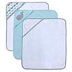 Neat Soulitons® 3-Pack Whale Hooded Towels