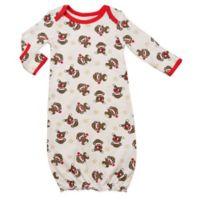 Baby Starters® Sock Monkey Gown in White