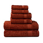 Wamsutta® 6-Piece Hygro® Duet Bath Towel Set in Spice