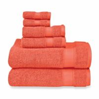 Wamsutta® 6-Piece Hygro® Duet Bath Towel Set in Paprika