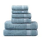 Wamsutta® 6-Piece Hygro® Duet Bath Towel Set in Glacier