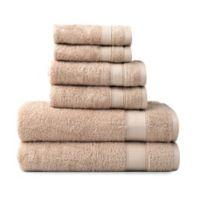 Wamsutta® 6-Piece Hygro® Duet Bath Towel Set in Sand