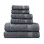 Wamsutta® 6-Piece Hygro® Duet Bath Towel Set in Pewter