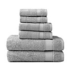 Wamsutta® 6-Piece Hygro® Duet Bath Towel Set in Chrome