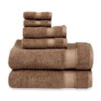 Wamsutta® 6-Piece Hygro® Duet Bath Towel Set in Latte