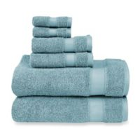 Wamsutta® 6-Piece Hygro® Duet Bath Towel Set in Cameo Blue