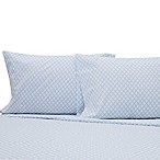 Benzoyl Peroxide-Resistant Geometric Twin XL Sheet Set in Light Blue