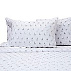 Benzoyl Peroxide-Resistant Llama Twin XL Sheet Set in White
