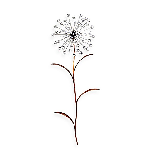 Jeweled Dandelion Wall Art