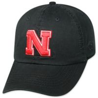 University of Nebraska Adjustable Embroidered Crew Cap in Black