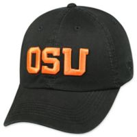 Oregon State University Adjustable Embroidered Crew Cap in Black