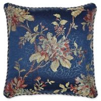 Croscill® Calice Floral Jacquard Square Throw Pillow in Blue