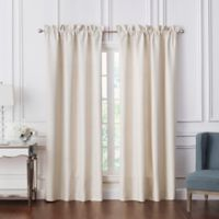 Waterford® Lancaster 84-Inch Rod Pocket Window Curtain Panel Pair in Sand