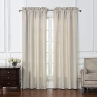 Waterford® Gwyneth 84-Inch Rod Pocket Window Curtain Panel Pair in Taupe