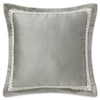 Waterford® Celine 16-Inch Square Throw Pillow in Dove