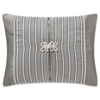 Waterford® Celine Woven Striped Throw Pillow in Dove