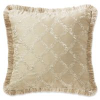 Waterford® Annalise Scroll Square Throw Pillow in Gold