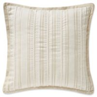 Waterford® Lancaster 14-Inch Square Throw Pillow in Sand